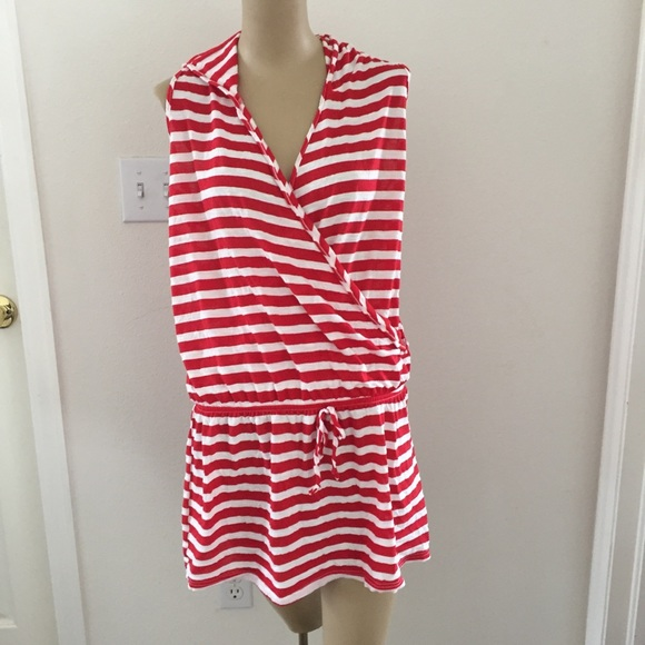 04f898619482b Swim | 3 For 15 Red And White Striped Suit Coverup | Poshmark